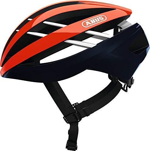 ABUS Aventor Rennradhelm - Sehr gut belüfteter Fahrradhelm für professionellen Radsport für Damen und Herren - 81674 - Orange, Größe M
