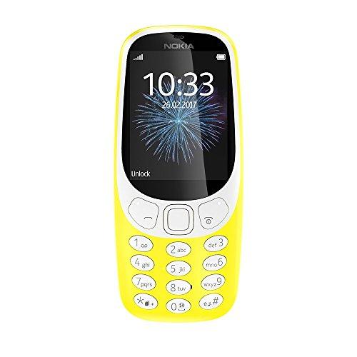 Nokia 3310 (2,4 Zoll Farbdisplay, 2MP Kamera, Bluetooth, Radio, MP3 Player, Dual Sim) gelb