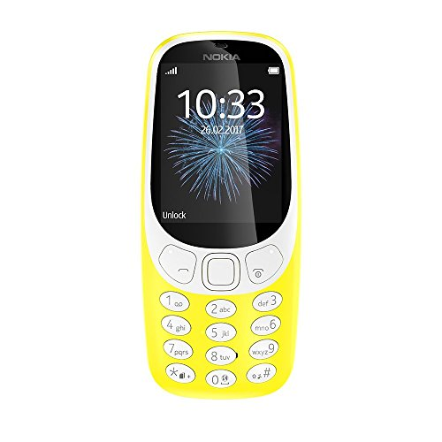 Nokia 3310 (2,4 Zoll Farbdisplay, 2MP Kamera, Bluetooth, Radio, MP3 Player, Dual Sim) gelb
