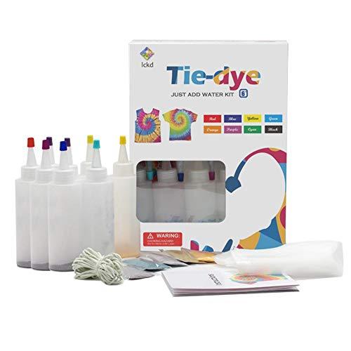 N/Z Tie Dye Kit, One Step DIY Fashion Dye Kit 8 Farben T-Shirt Kleidung Graffiti Dye Party Supplies für Erwachsene Kinder Familienunterhaltung