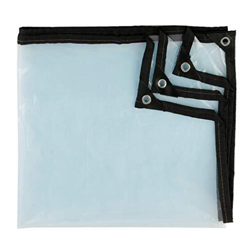 HSBAIS Bache Transparente avec oeillets - Polyéthylène Bâches pour les espaces de restauration en plein air,3x8m/9.9x26.4ft