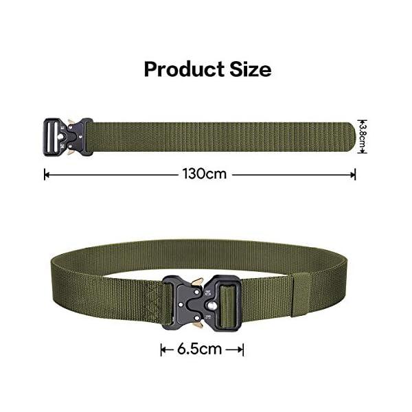 41ygwbqbrSL. SS600  - AivaToba Cinturón Táctico para Hombres Cinturón de Seguridad Cobra Militar Resistente de Nylon con Hebilla Metálica de…