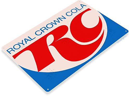 Tinworld TIN Sign A154 RC Cola Royal Crown Coke Retro Soda Shop Store Kitchen Metal Decor Cave