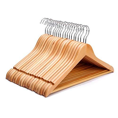 LUYIYI 10 packsNon-Slip Wooden Household Rack Hanger (Color : Beige) -  19995