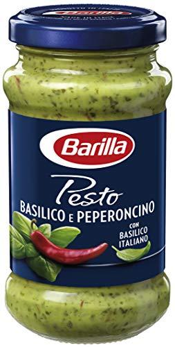 Barilla grünes Pesto Basilico e Peperoncino - 1 Glas (1 x 195g)