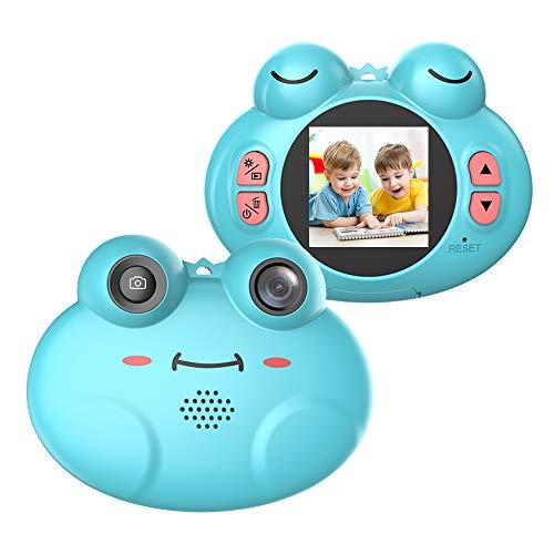 CamKing Cámara Digital para niños, K5 HD 720P 12MP 8X 1.54 Pulgadas Pantalla de Dibujos Animados Cámara Digital portátil para niños (Azul)
