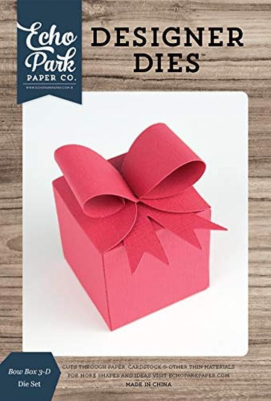 Echo Park Paper Company EPPDIE1129 Bow Box 3-D die, Navy, Woodgrain, Pink, Teal