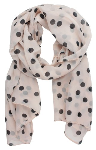 Womdee(TM) Fashion Charming Beautiful Black Polka Dot Warm Scarf Wrap