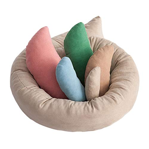 ABEL Newborn Photography Prop Posing Beans Bag Professional Baby Photo Posing Aid Pillow Photograph Shoot Set for 0-6 Months Baby, Pack of 6, Multicolor