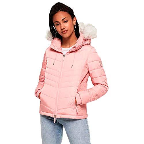 Superdry Luxe Fuji Chaqueta, Rosa (Pale Pink 11r), XS (Talla del Fabricante:8) para Mujer