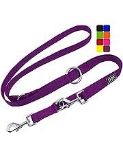 DDOXX Correa Perro Multiposición Nylon, Ajustable en 3 tamaños, 2 m | Muchos Colores & Tamaños | para Perros Pequeño, Mediano y Grande | Correa Accesorios Doble 2 Gato Cachorro | M, Violeta, 2m