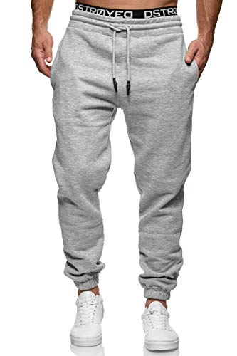 MERISH Jogginghose Herren Jogger Männer Baumwolle Jungen Slim Fit 283 (L, 277b Grau)