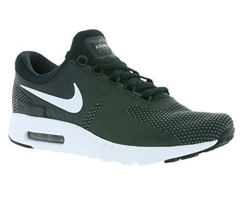 Nike Uomo, Air Max Zero Essential, Tessuto Tecnico, Sneakers, Schwarz (Black/White/Dark Grey), 40 EU