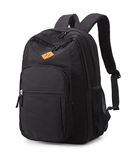 Abshoo Classical Basic Womens Travel Backpack For College Men Water Resistant Bookbag (Black)