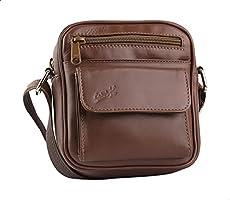 Seven K Genuine Leather Front-Pocket Detachable Shoulder Strap Zipped Crossbody Bag for Men - Havan - 2725607185650