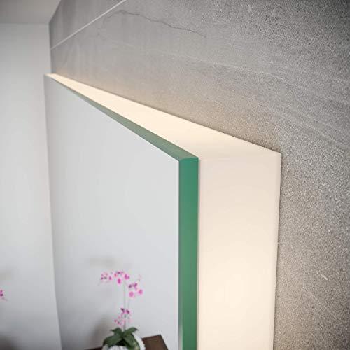 Spiegel ID ZUSATZOPTION für LED Badspiegel | Vollverblendung (hochwertige Profile an Allen Vier Seiten) | Ausführung: Kunststoff lichtdurchlässig