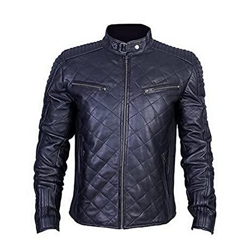 Urban Leather UR-50 Chaqueta de Cuero 956 para Caballeros, Negro, Talla M