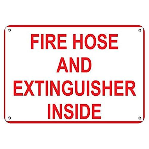Aluminium metalen bord 12x16 INCHES brandslang en brandblusser binnen gevaar teken brand teken