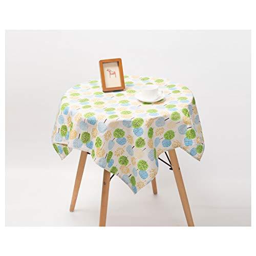 LIUJIU Home Nappe de Table carrée résistante à la saleté et à l'eau Effet Lotus Facile d'entretien Disponible en différentes Tailles e,140x220cm