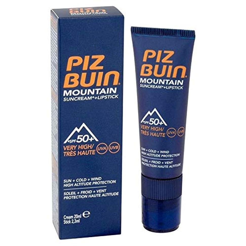 牧師襲撃湖[Piz Buin] ピッツブーイン山脈口紅&サンクリームSpf50 + 20ミリリットル - Piz Buin Mountain Range Lipstick & Suncream SPF50+ 20ml [並行輸入品]