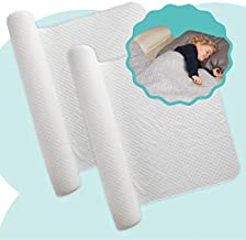 [2-Pack] hiccapop Inflatable Bed Rail for Toddlers | Travel Bed Rail, Blow-up Bed Bumper with Soft, Non-Slip Machine-Washable Cover | Portable Bed Rail for Hotel, Grandma's, Vacation