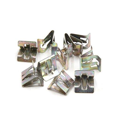 Preisvergleich Produktbild sourcing map Befestigung Clips 10Pcs Metall Nieten Auto Innen Armaturenbrett Panel Trim 6mm