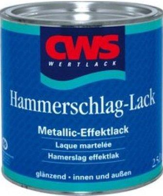 CWS Hammerschlag-Lack, Farbton grün glänzend / 750 ml/für innen und außen/Metallic-Effektlack