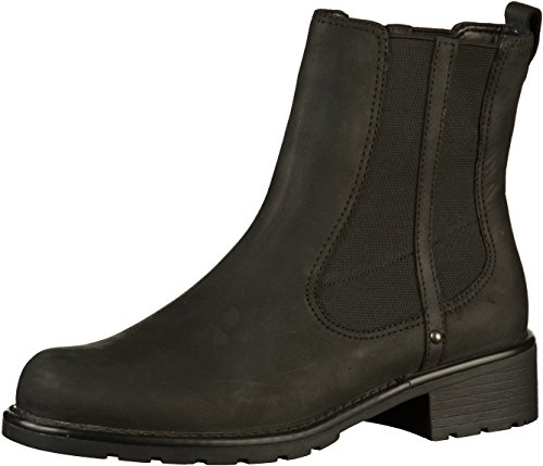 Clarks Damen Orinoco Club Kurzschaft Stiefel, Schwarz (Black Leather), 37 EU