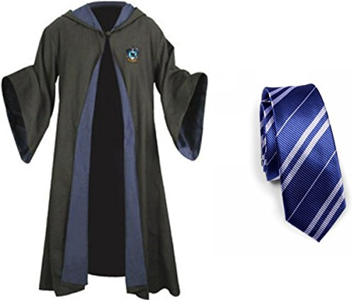Harry Potter Ravenclaw School Fancy Robe Cloak Costume And Tie (Size L)