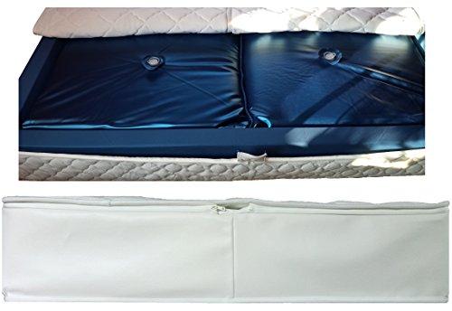 HK-Wasserbetten Wasserkerne Mesamoll2® DUAL + Lyocell Auflagen Bezug 180x210 cm im Set inklusive Outliner und Trennwand (F3 75% Beruhigung)