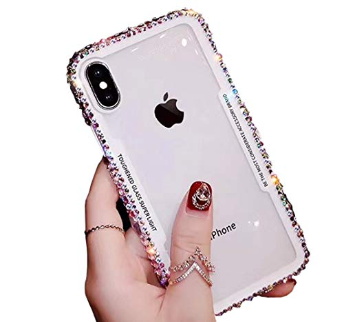 Jesiya /iPhone 7 Plus, luxuriöses glänzendes süßes glitzerndes Bling Case Ultra Slim Soft TPU Kristall Diamant Strass Strass Bumper Glitzer Cover für Plus/iPhone 7 Plus klar