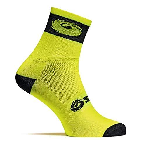 SIDI Socken 017® Logo Meryl Gelb Fluo Schwarz Größe 35/39