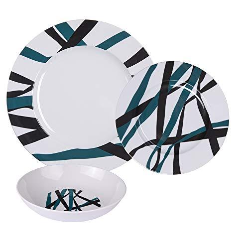 Table Passion - service d'assiettes maestro 18 pièces