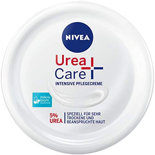 NIVEA Urea + Care Intensive Pflegecreme (300 ml), Feuchtigkeitscreme pflegt und beruhigt trockene und beanspruchte Haut, Urea Creme spendet wertvolle Feuchtigkeit