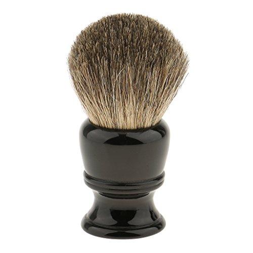 yotijar Brocha de Afeitar con Mango en Resina de Calidad   Brochas para Crema de Afeitar, Hombre