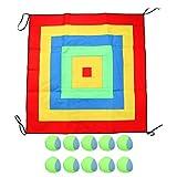 Tomaibaby Juego de Mesa de Tela con 11 Bolas, Juego de Lanzamiento de Novedad Juego de Dardos de Saco de Arena Juego de Deportes Al Aire Libre para Niños (Rojo)