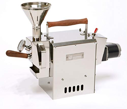 KALDI WIDE size (300g) Home Coffee Roaster Motorize Type Full Package Including Thermometer, Hopper, Probe Rod, Chaff Holder (Burner Required)