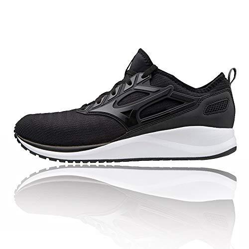 Mizuno EZRUN CG (Unisex), Zapatillas de Running Adulto, Black/Black, 36.5 EU