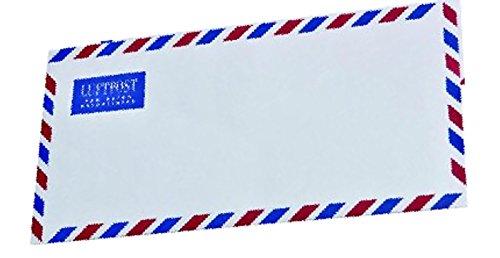 100 Luftpost Briefumschläge Din lang ohne Fenster