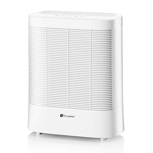 Houzetek Purificador Aire Silencioso (30dB) con Filtro HEPA, 3 Velocidades Ajustables y Lámpara UV Única, Purificación de hasta 170m³ para Hogar, Oficina