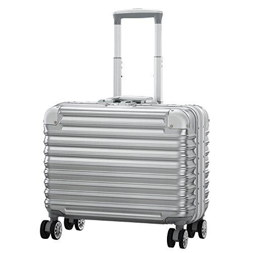 LUSHBERRY スーツケース 大型 人気 レトロ 機内持込 キャリーケース 静音 TSAロック ビジネス旅行用品 出張 超軽量 大容量 8輪 アルミフレーム(SSサイズ 機内持込型29L 2.8KG 1〜2泊,シルバー)
