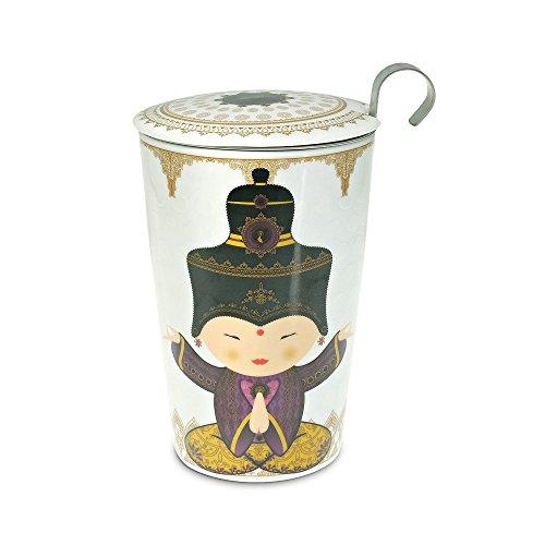 TEAEVE® Teetasse, Becher mit Sieb + Deckel, LITTLE SHIVA PURPLE + Geschenkkarton