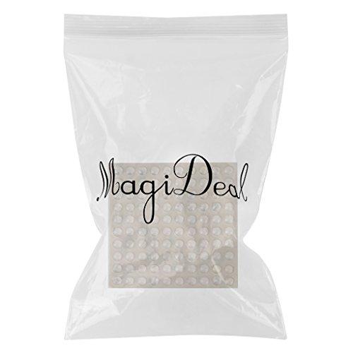 Vinilo MagiDeal hidrogel tope muebles pies topes almohadillas 1,6 cm l/ámina de 100 piezas transparente