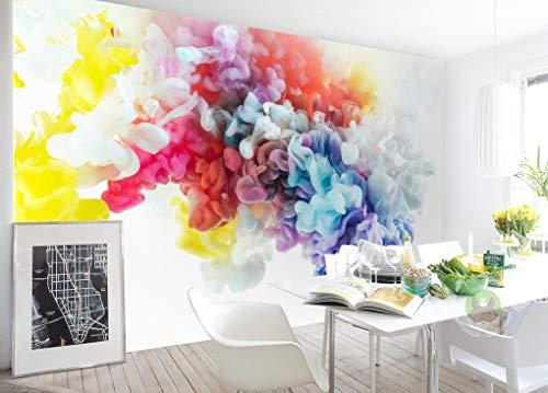 3D Colorful Smoke 286 Wall Paper Print Decal Deco Wall Mural Self-Adhesive Wallpaper AJ US Lv (Vinyl...