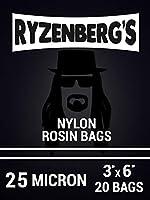 Ryzenberg's ロジンプレス バッグ/ロジンフィルター (25ミクロン) 3インチ x 6インチ (20パック)