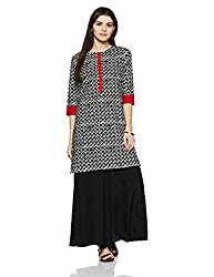 Myx Womens Straight Cotton Kurta