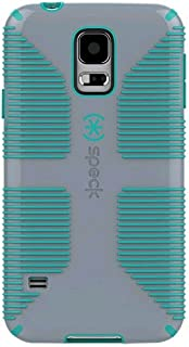 Speck Products SPK-A2707 CandyShell Grip Case for Samsung Galaxy S5, Nickel Grey/Caribbean Blue