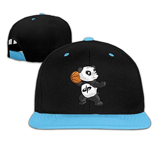 sdfgsdhffer Kid Cool Dude Perfect Panda Basketball Contrast Color Flat Brim Hat Red Royalblue