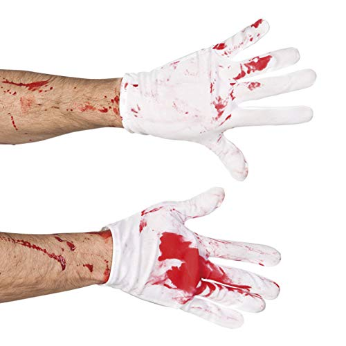Boland 72106 1 Paar Handschuhe Blutig, Damen, Weiß/Rot, Taglia Unica