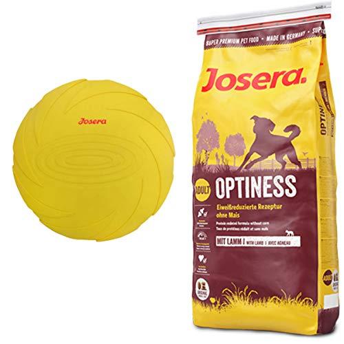 Josera 15 kg Optiness + Hundespielzeug Frisbee